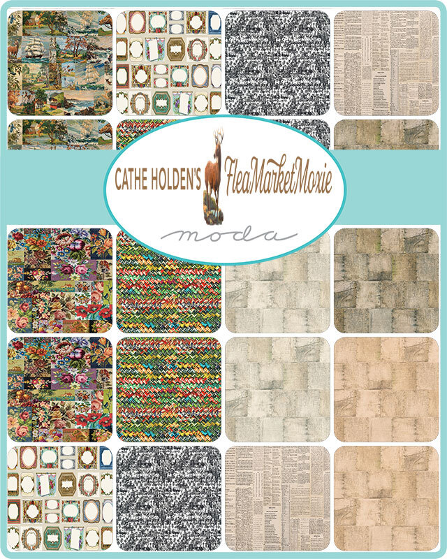 Flea Market Moxie Parchment Words Fabric 7366-11D from Moda by the yard