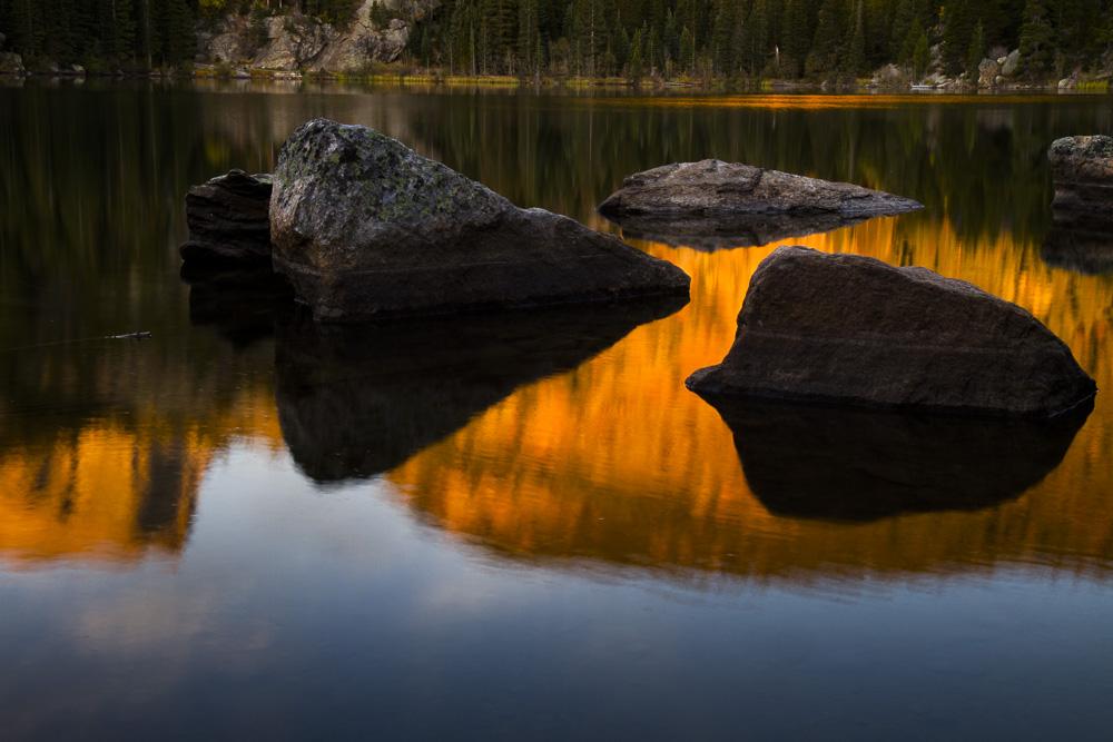 Aspen reflected in Bear Lake.