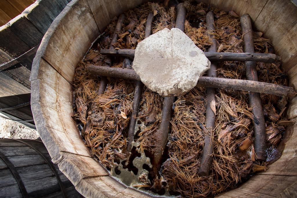Fermentación en tina de madera.