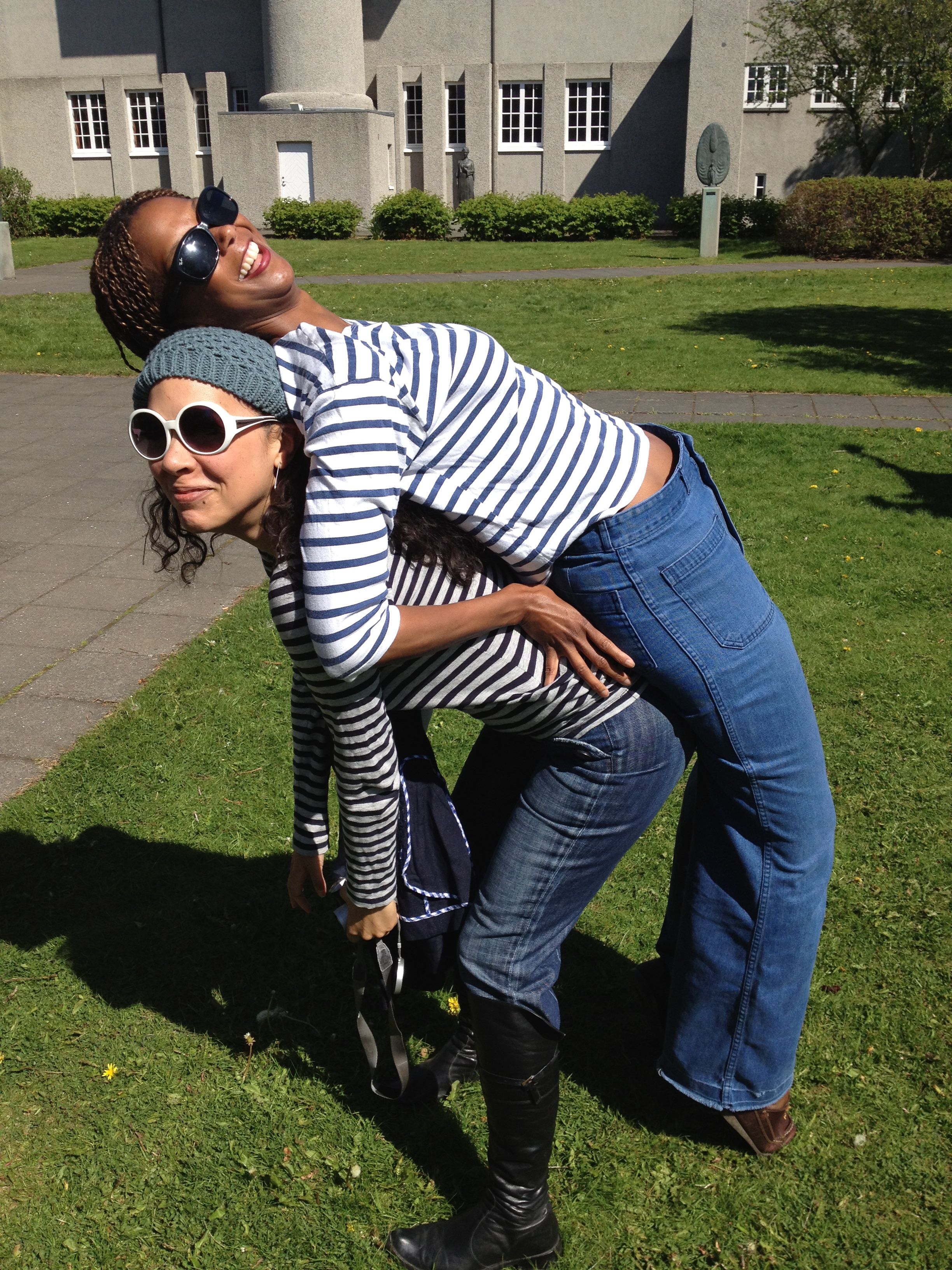 Me and Melissa horsing around in Iceland.