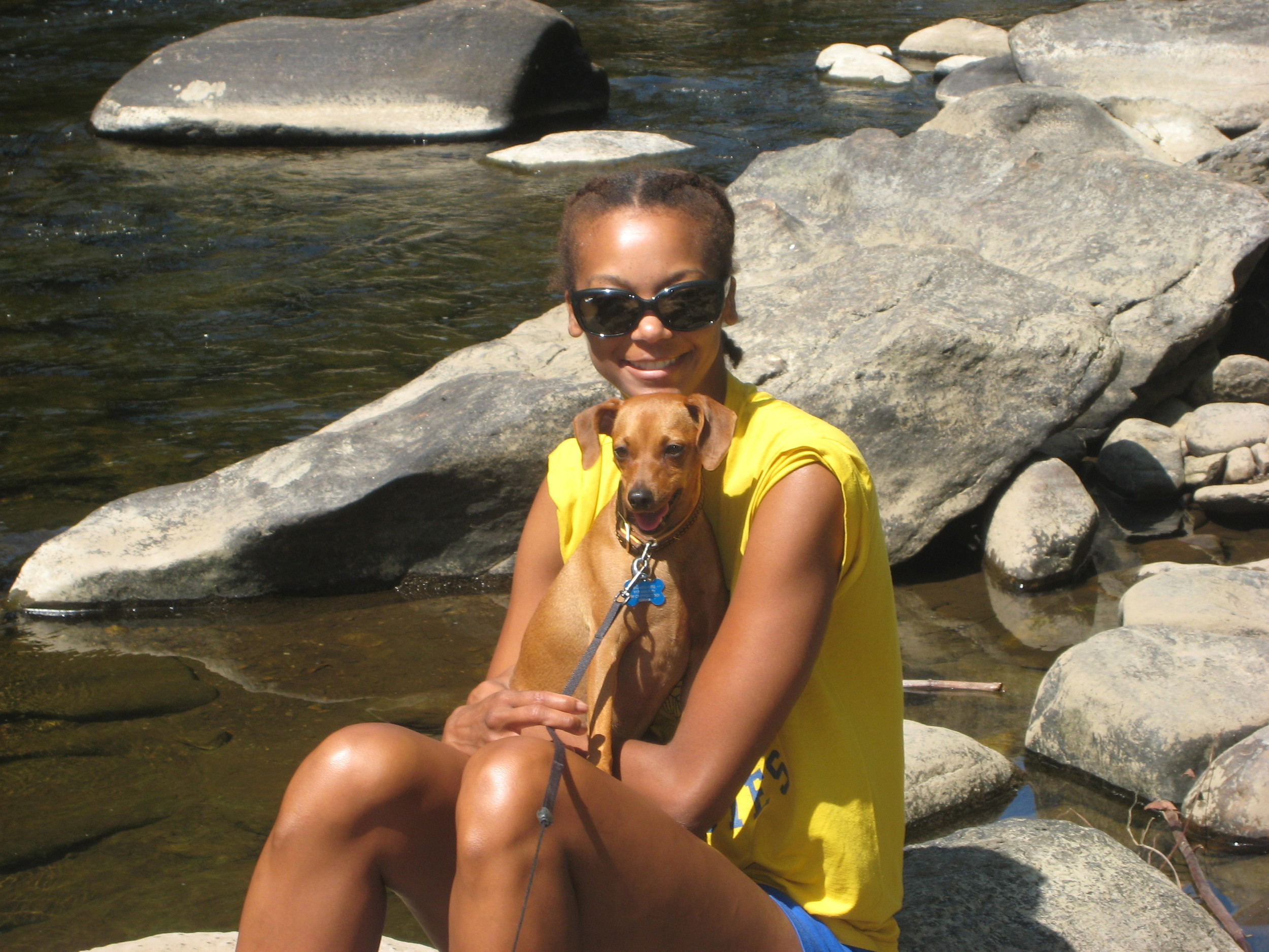 Avery, my pooch, and I in Vermont.