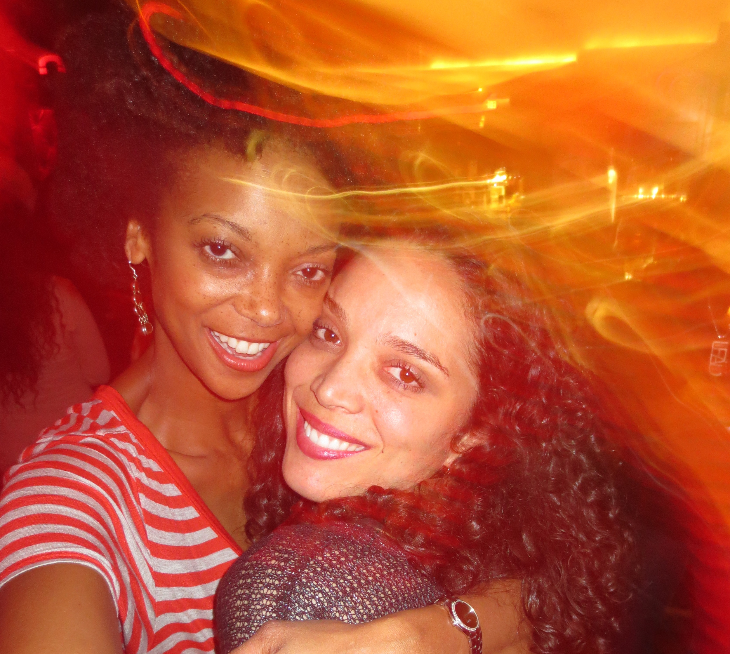 Me and Daphnee on the dance floor in NYC.