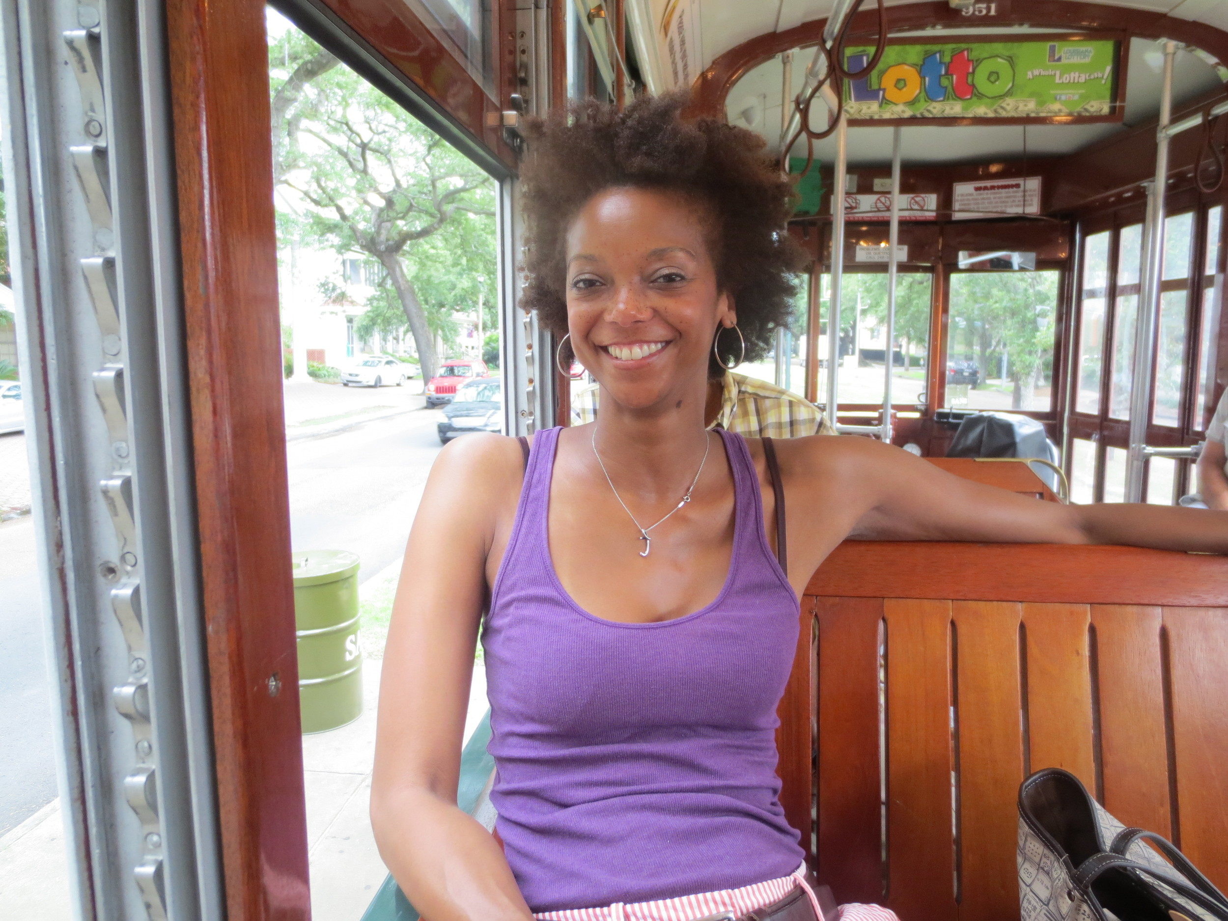 On solo trip to New Orleans–another place I was warned to not visit alone–riding the one of the famed trollies.