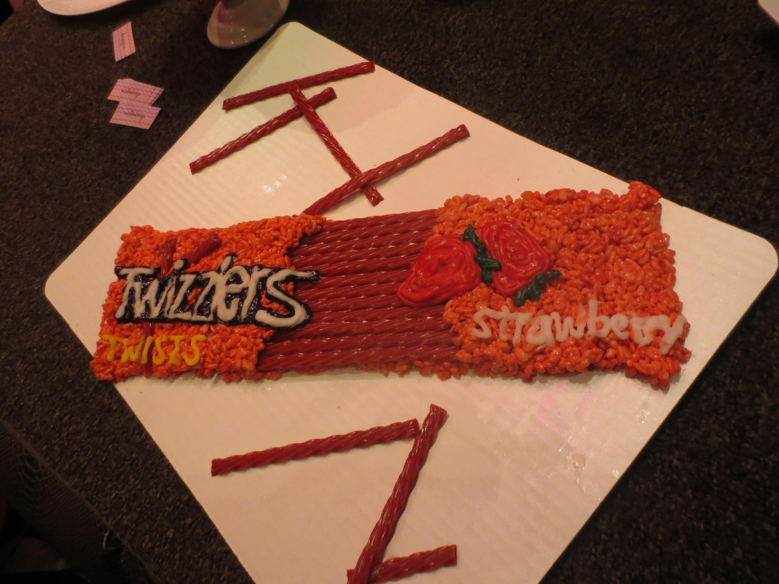 """And amazing """"Twizzler"""" rice krispy treat display by Jessica Siskin of Mister Krisp. And, yes, this was tasty too."""