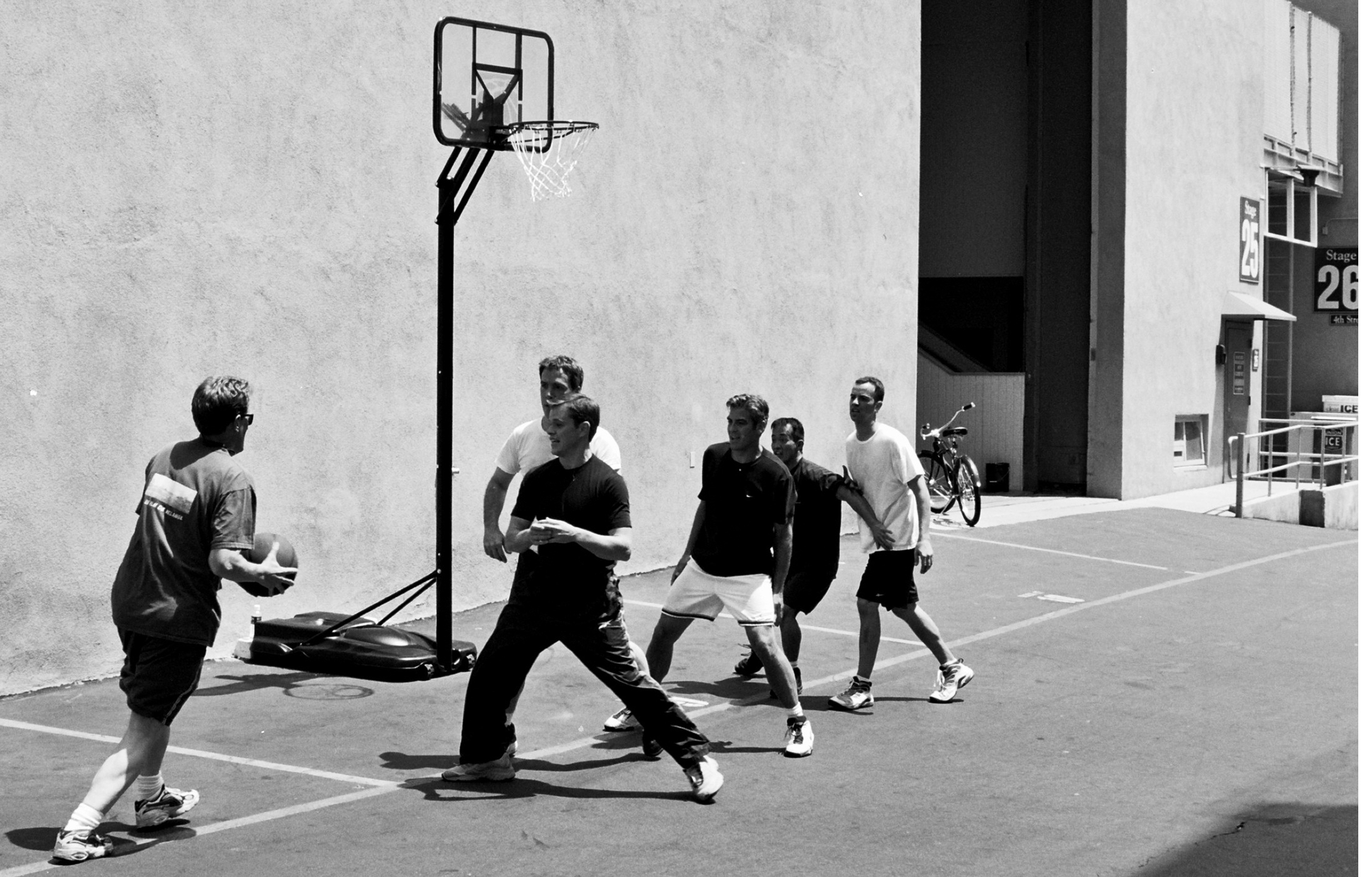 Basketball game, Matt Damon, George Clooney, Los Angeles, CA