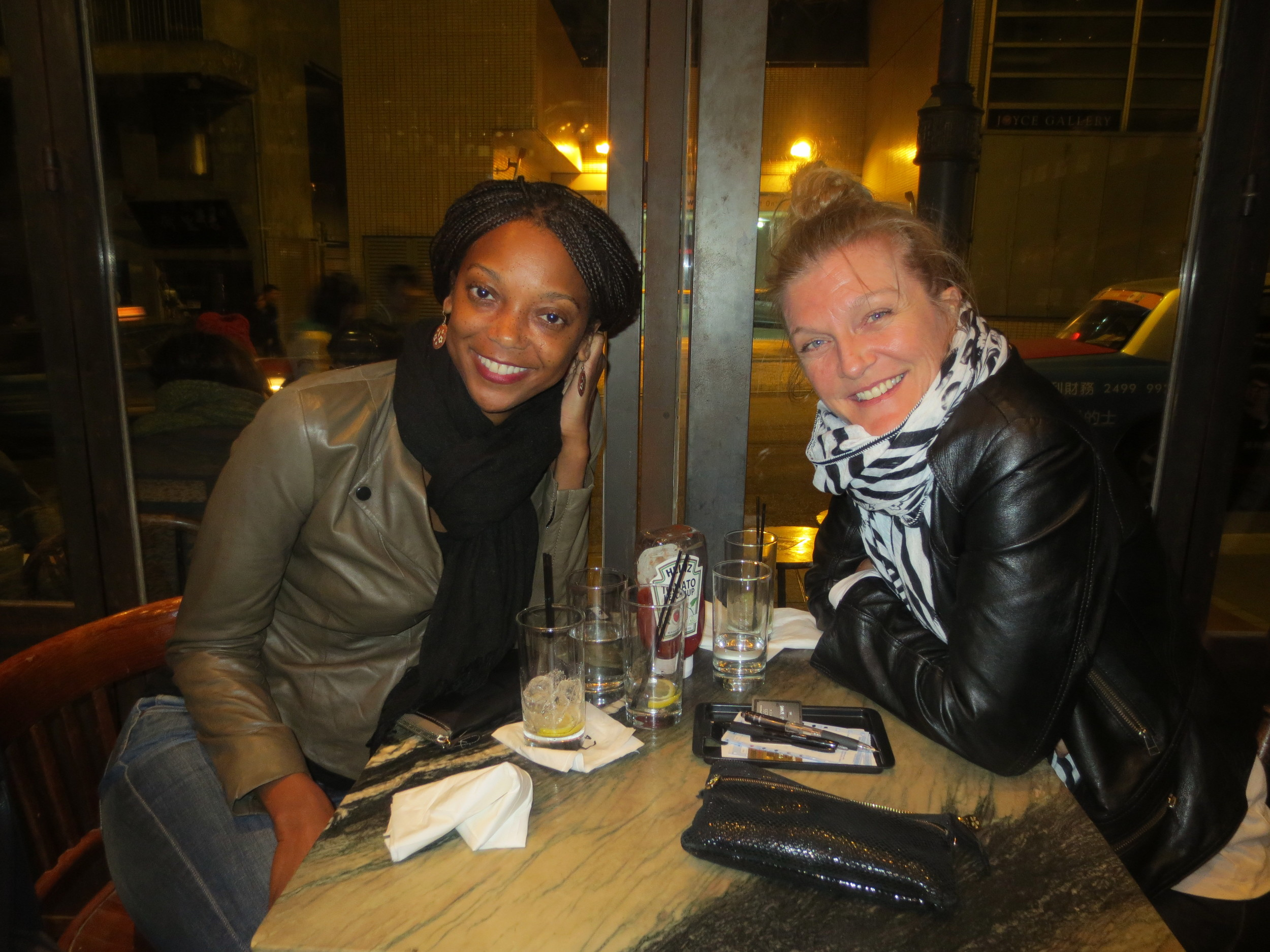 With one of my lady loves, Margot, in Hong Kong, after a low-key New Year's Eve dinner. (A good friend does not need the distraction of a big event on New Years, only you.)