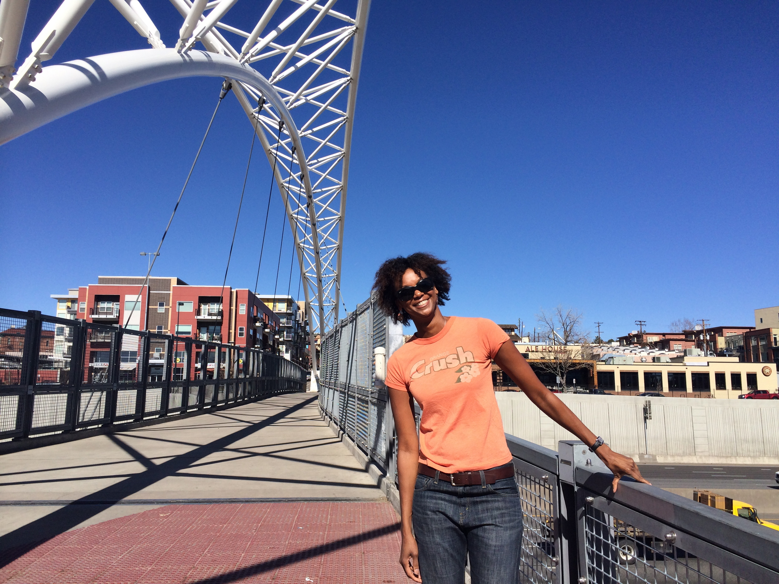 Having a perfectly fine hair day a few weeks ago in Denver.