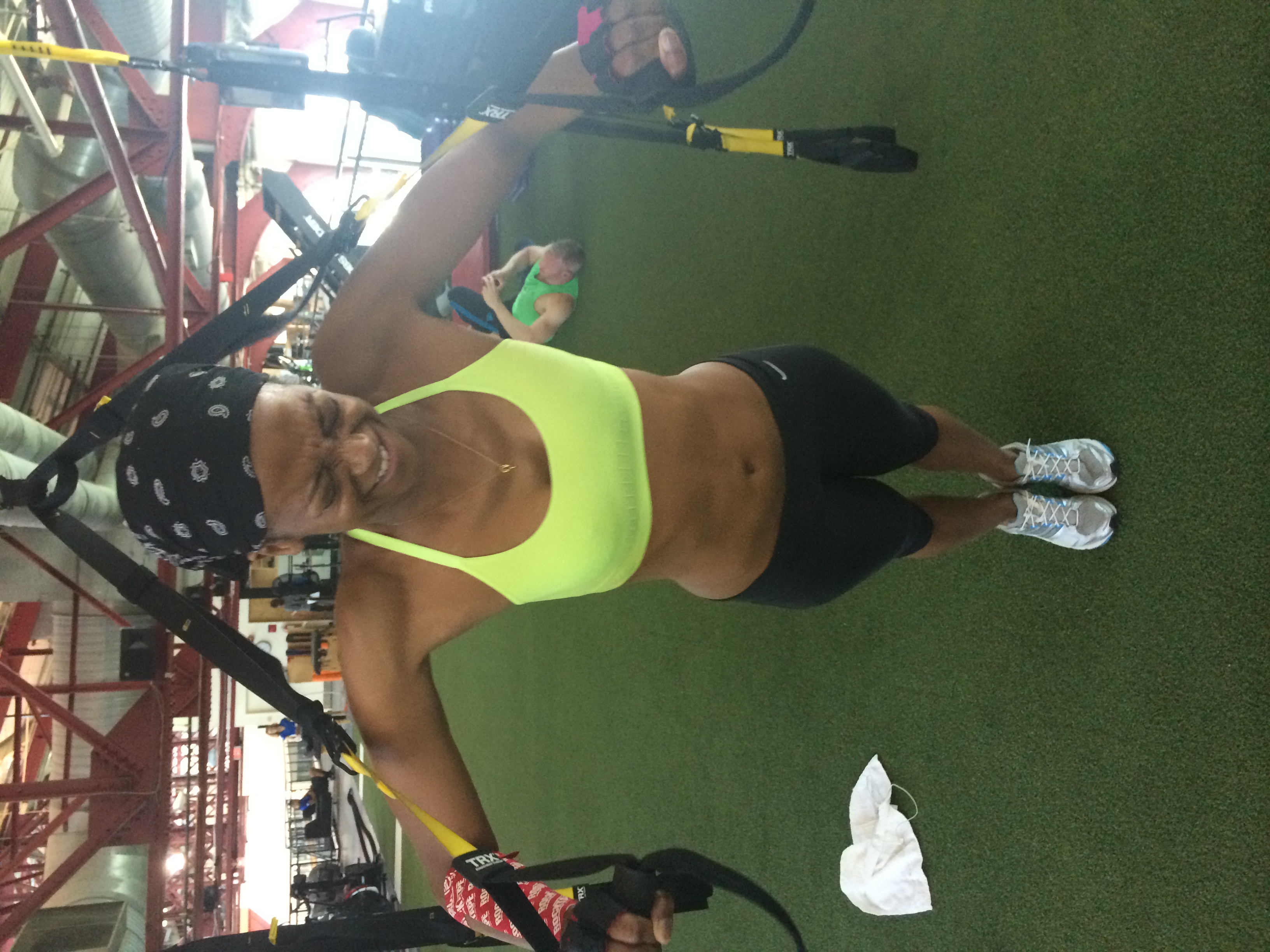 Trying to get it done on the TRX.