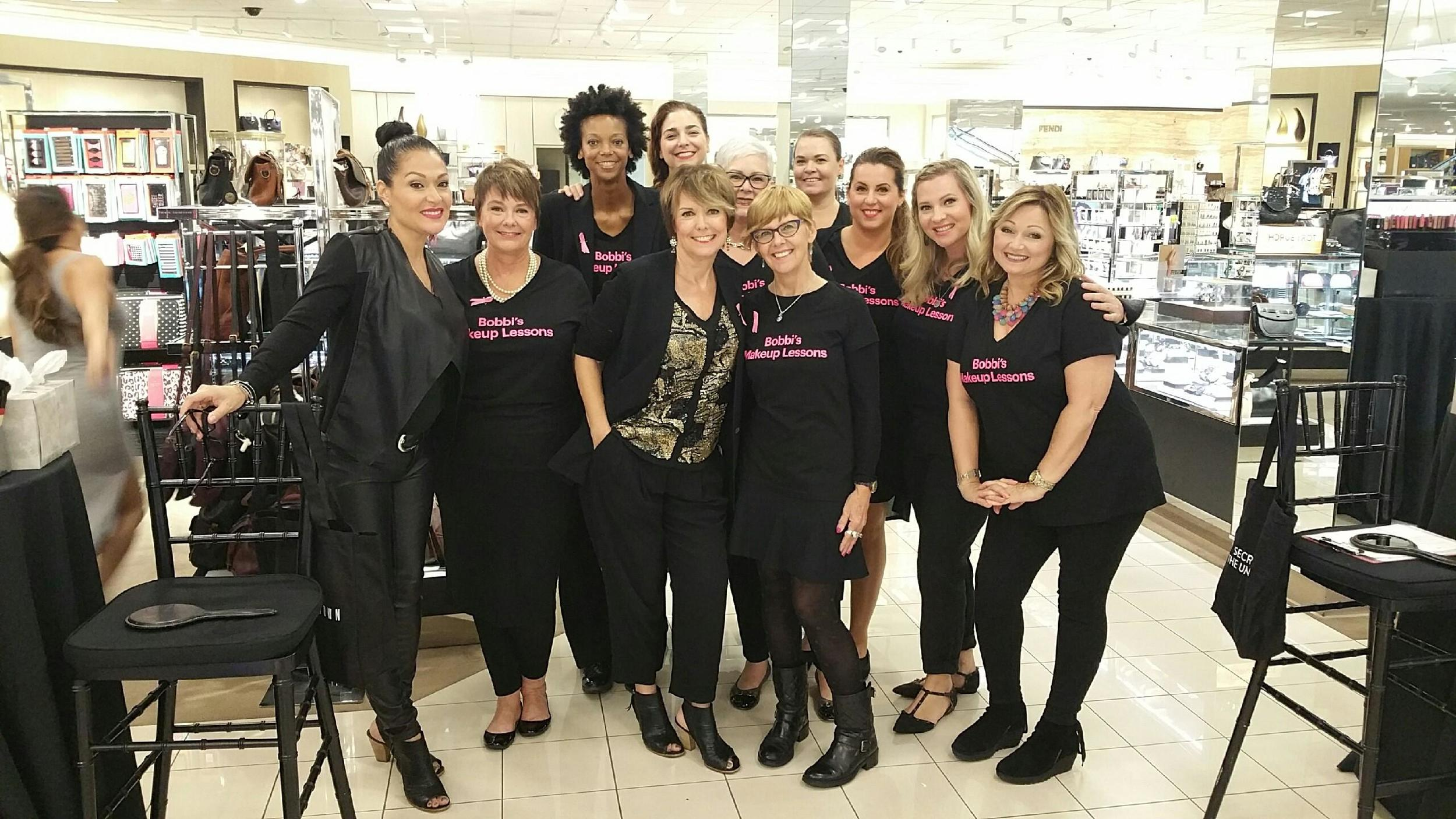 With my fellow Bobbi Brown makeup artists at a recent event. The best crew ever!