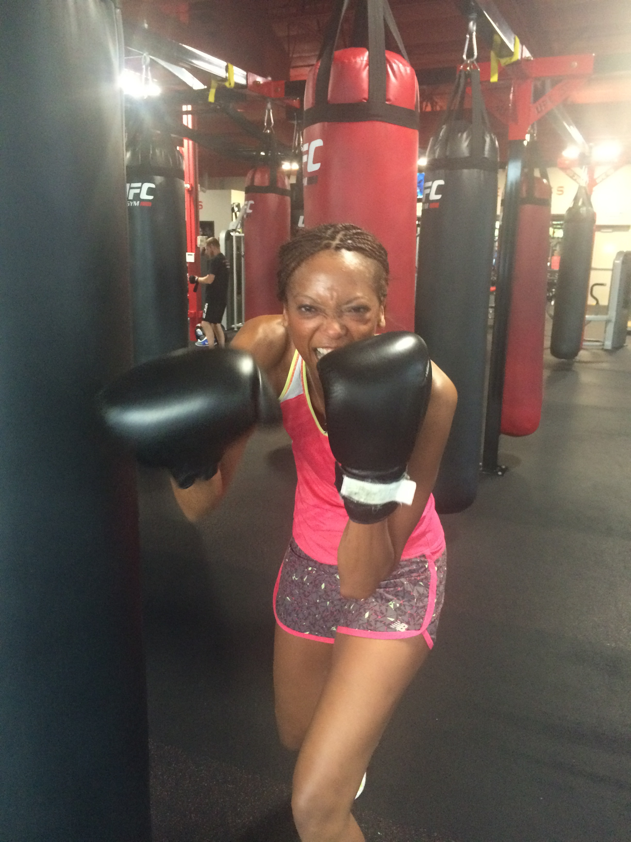 Boxing is a great way to get fit and relieve stress. (Yes, I know I used this photo in a previous post.)