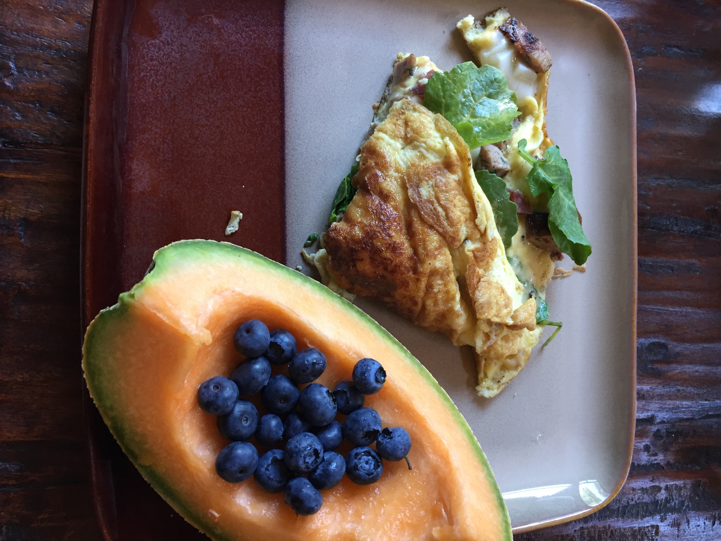 Swap those hash browns for fresh fruit with your next omelette. It's all about clean' livin', folks!