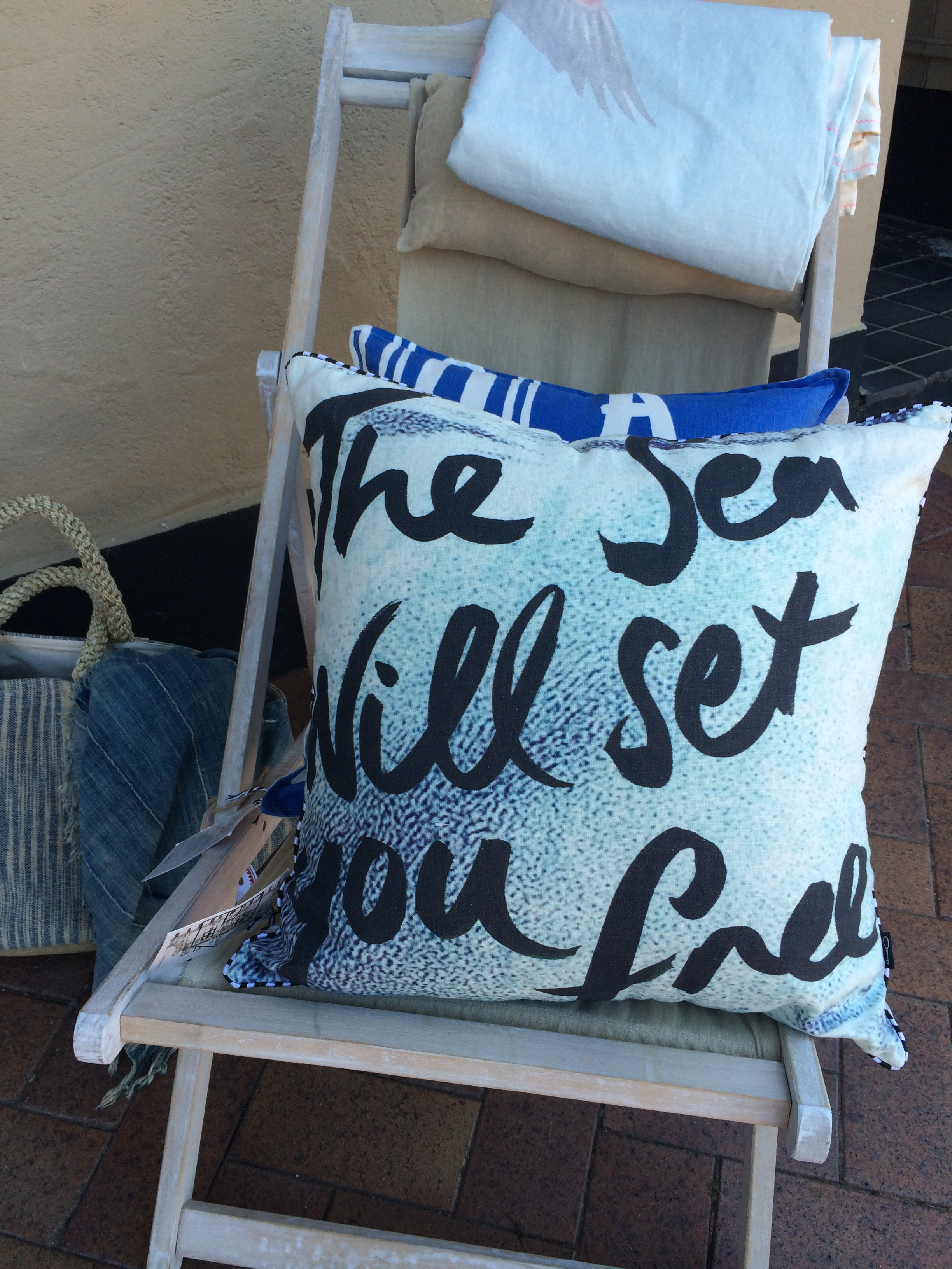 the sea will set you free pillow