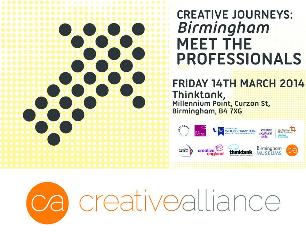 Creative Alliance   Event Coordinator for 'Creative Journeys Birmingham'   March 14th 2014