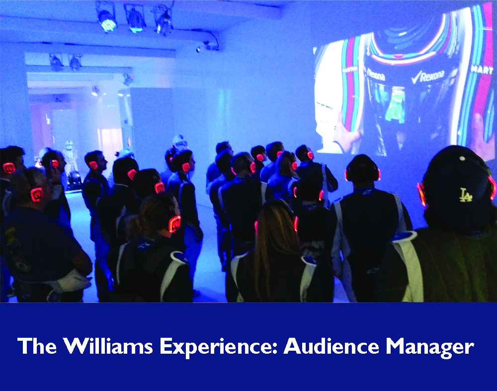 Audience Manager: The Williams Experience, Motorsports Show 2017, Birmingham NEC. January 2017