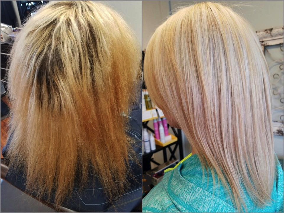 FORMULA FRIDAY by Kirsti Hawthorne    Formula:    1. Cleansed the ends with deep cleansing + Ligh10 + HOT water 2. Foiled roots with 20 vol Emulsion, ends with 10 vol Emulsion + safe lightener complex 3. Toned with 24g Pearl + 6g Silver Smoothies    Styling:    Leave in Spray    Argan Oil    Extra Firm Hold Hairspray