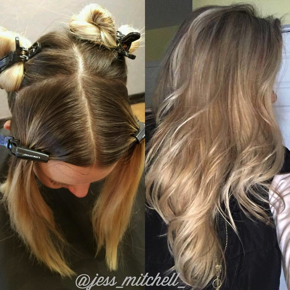 FORMULA FRIDAY by @jess_mitchell_ Ligh[10] 30 vol. Emulsion & Safe Lightner Complex    Tone: powder smoothies with Intensive Activating Emuslion Styling: Spray Leave-in, Liquid Designer & Volume Solution