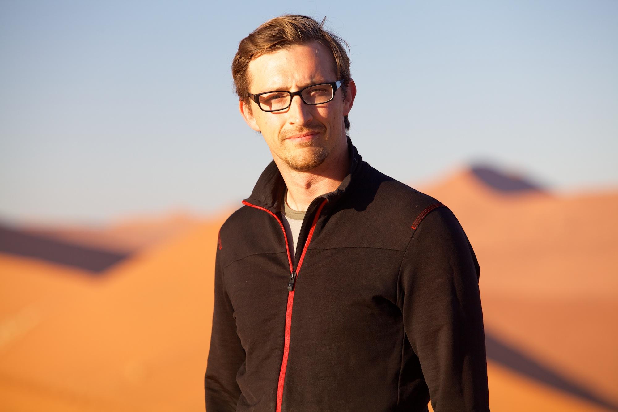 Travis Steffens in Namibia