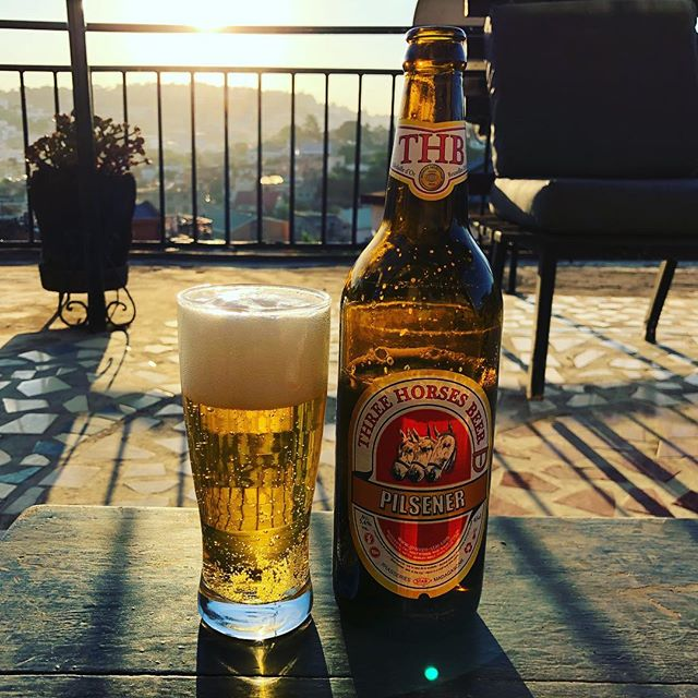 Obligatory THB sunset on the patio drink when you arrive in Antananarivo, #Madagascar #travellingprimate