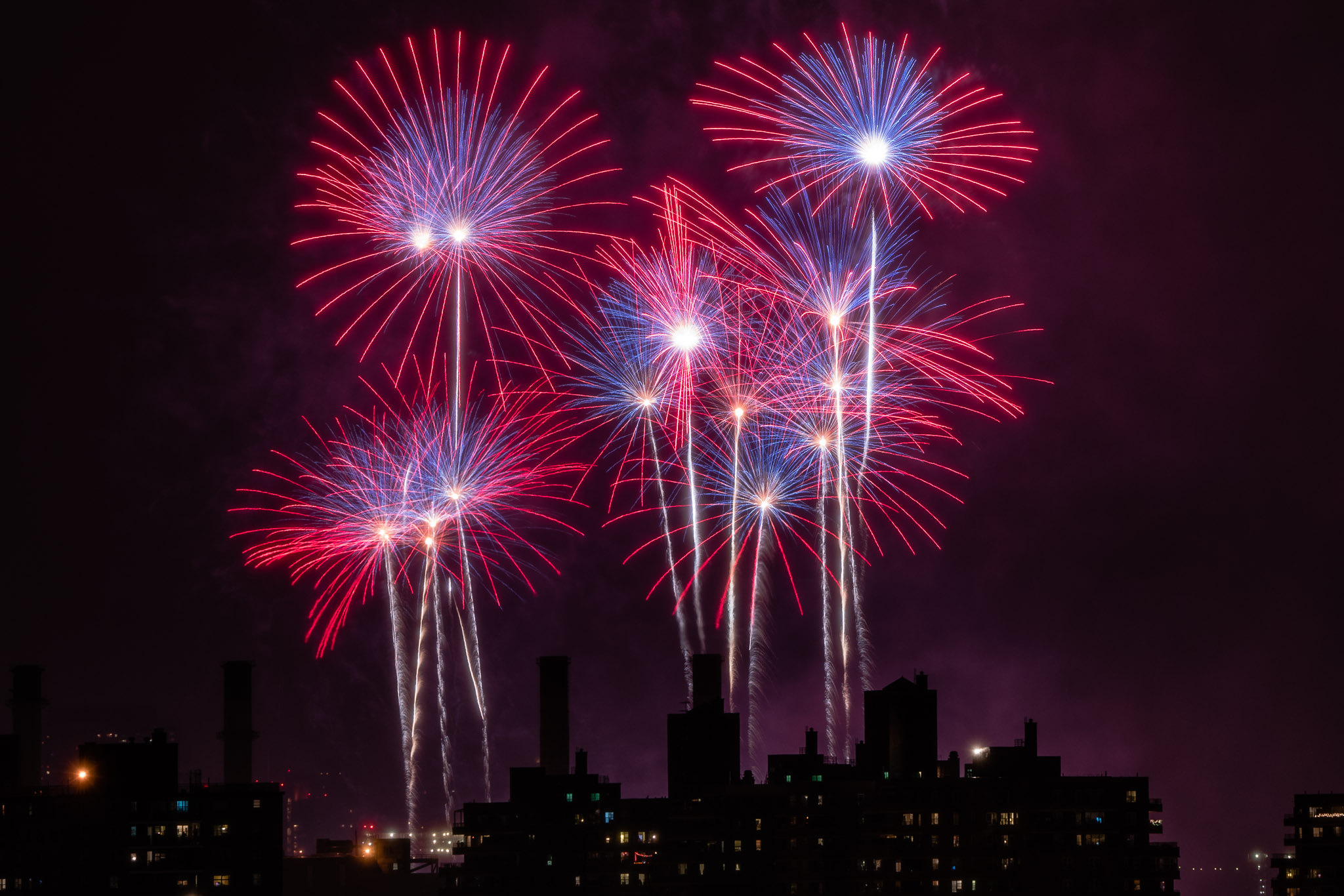 Fireworks over NYC, July 4th