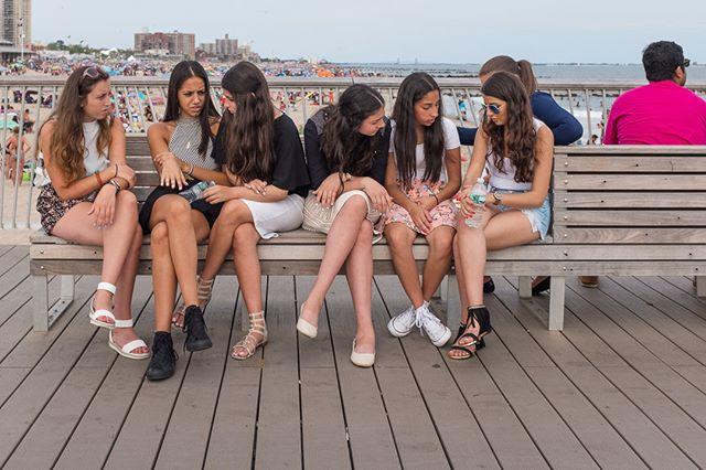The conversation on the pier. . . .  #capturestreets, #everybodystreet, #lensculturestreet, #lensculturestreets, #lensonstreet, #life_is_street, #ourstreets, #ourstreets_, #sweet_street_beat, #Brooklyn, #coneyisland #boardwalk