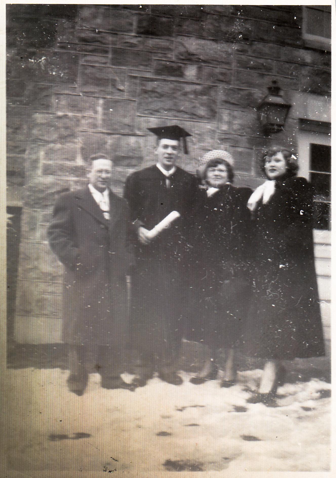 Ben, Morty, Fay, Arlene - Morty's graduation