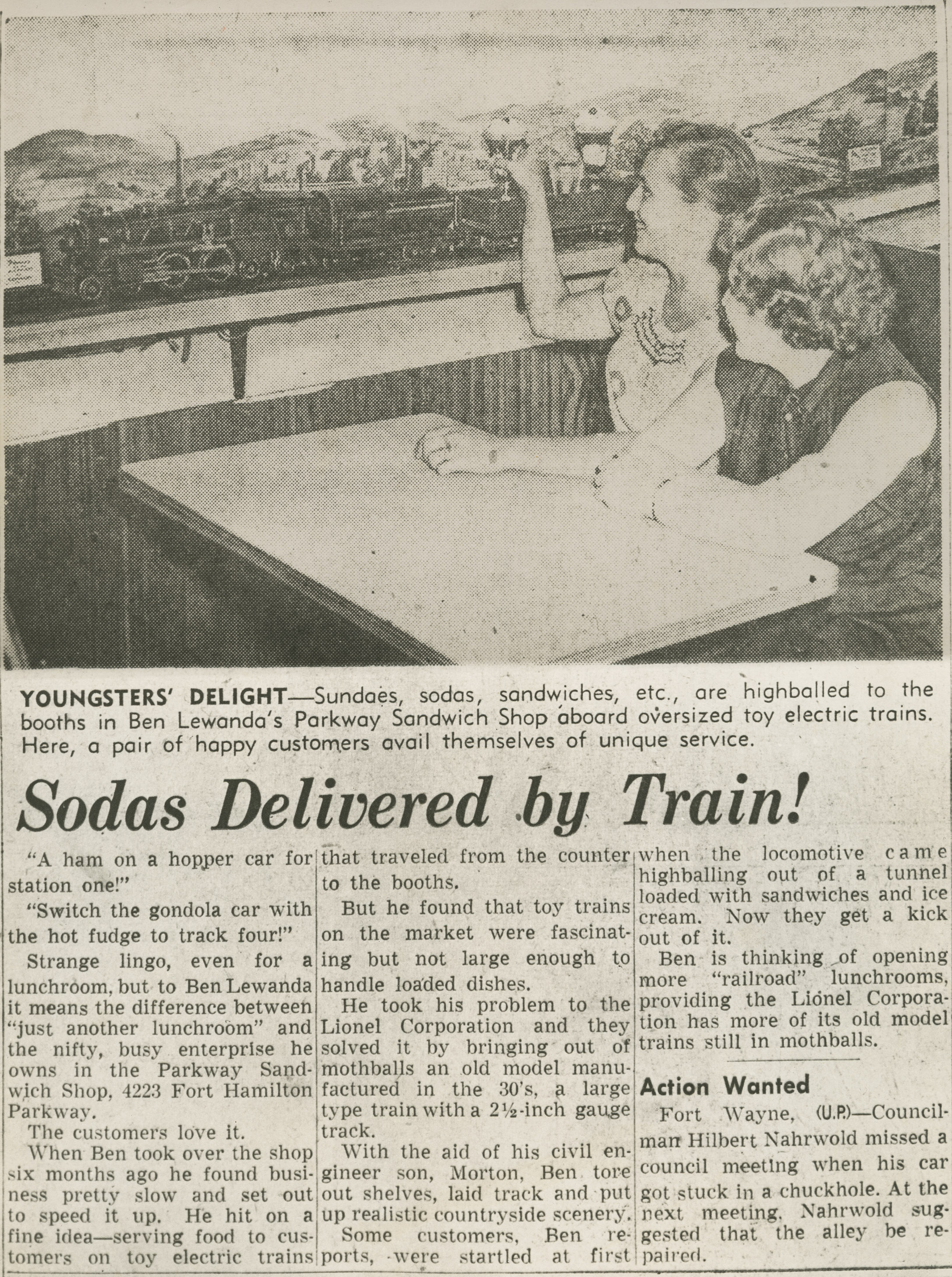 Sodas Delivered by Train!