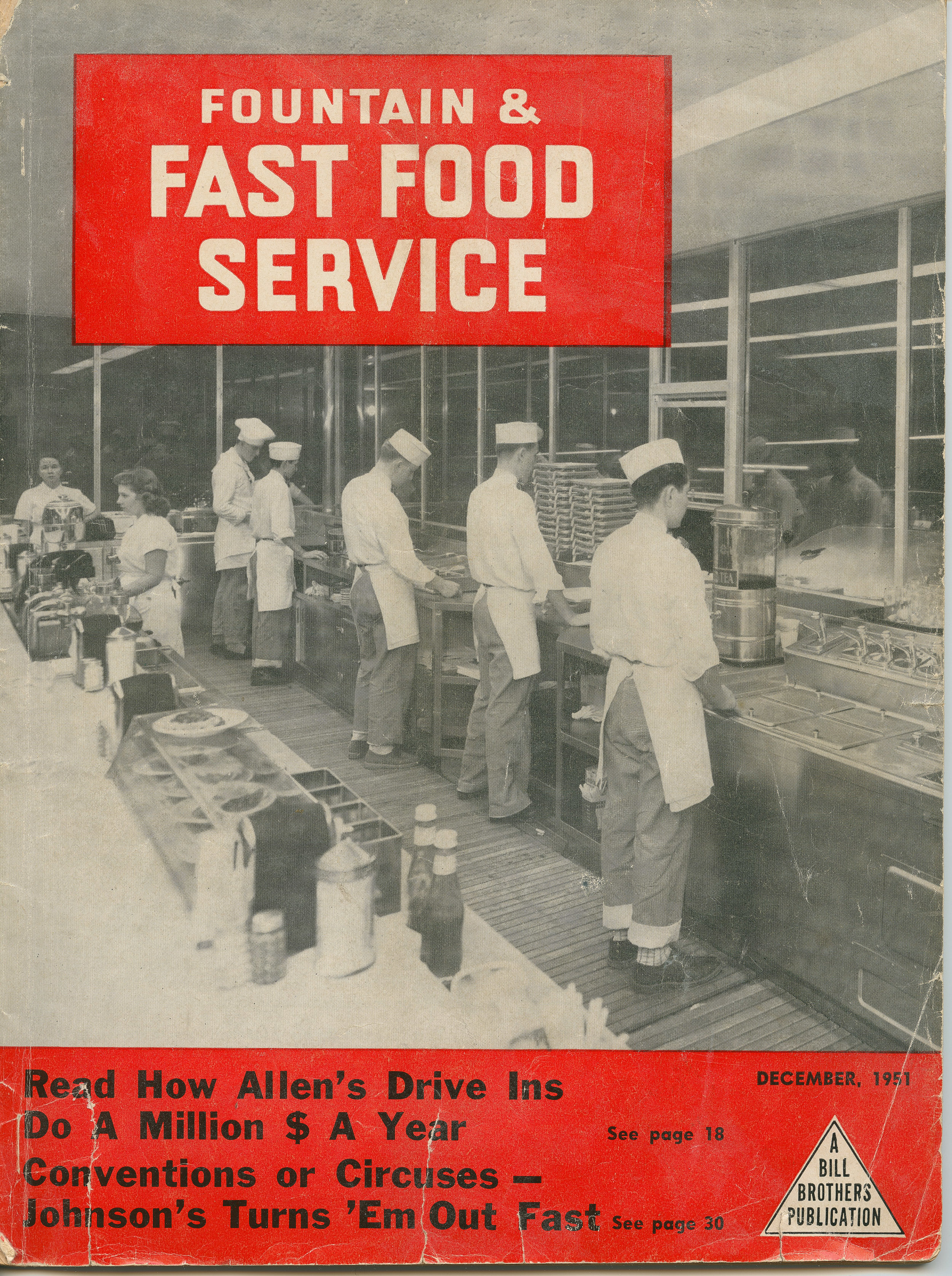 Fountain & Fast Food Service cover, December 1951