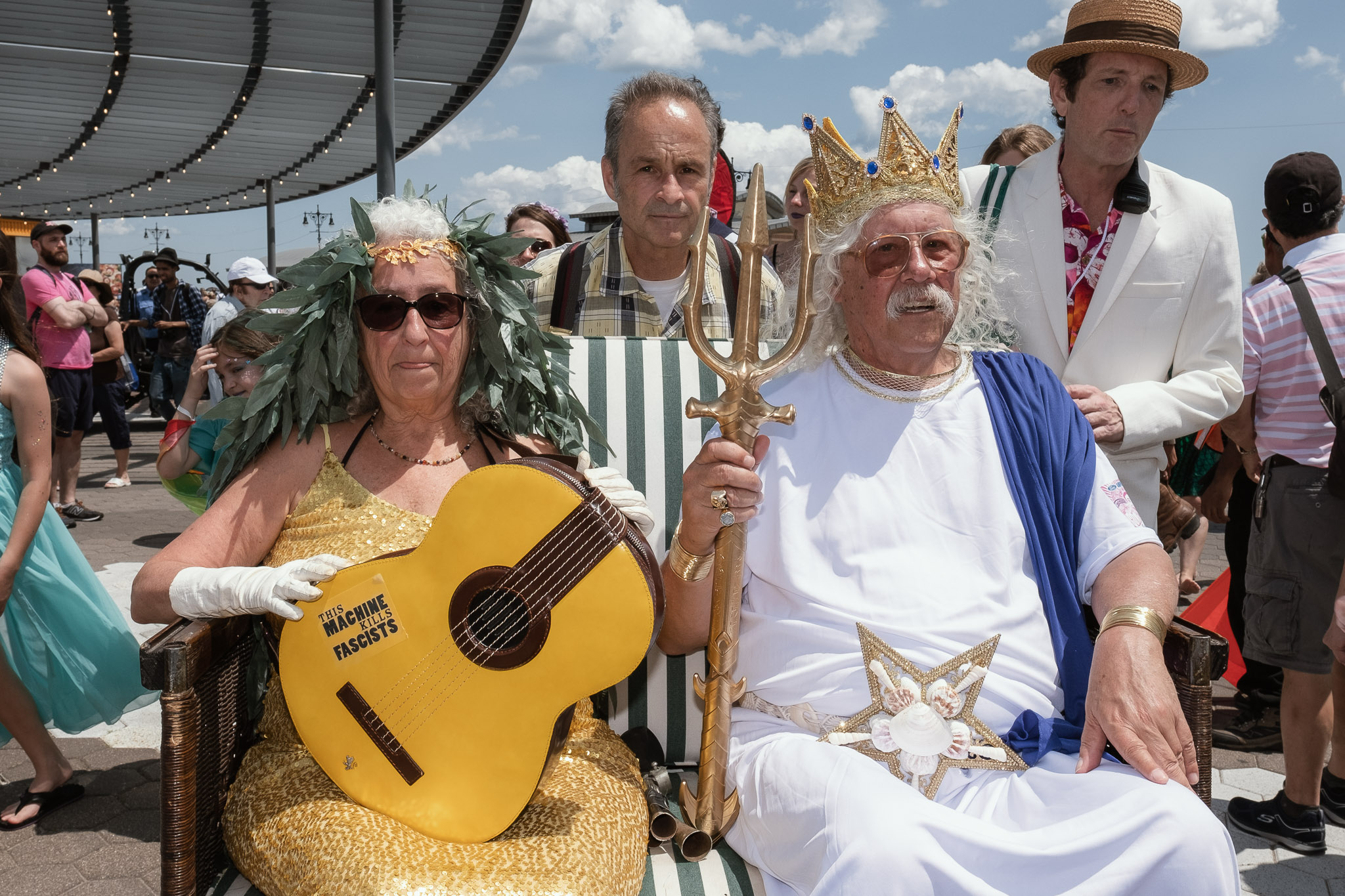 Mermaid Parade King & Queen: Nora & Arlo Guthrie