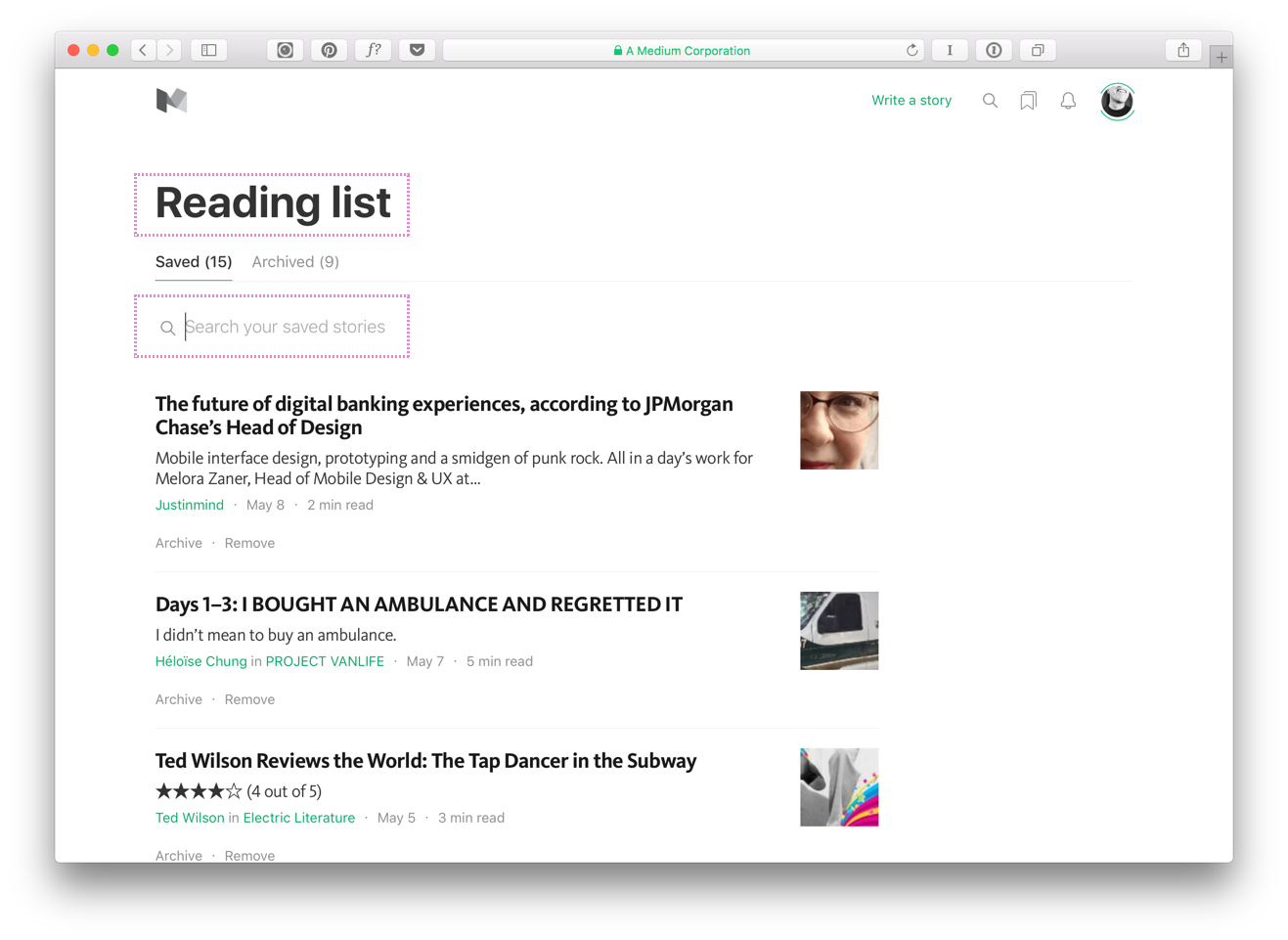 "Why does it say ""Reading list"" when these are my bookmarks? But, yay for Search!"