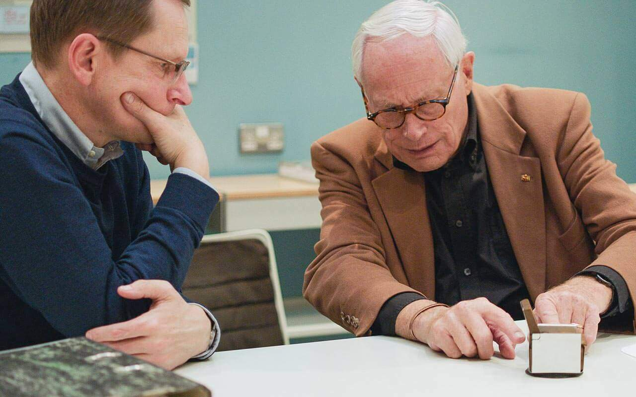 Mark Adams (Vitsœ) and Dieter Rams