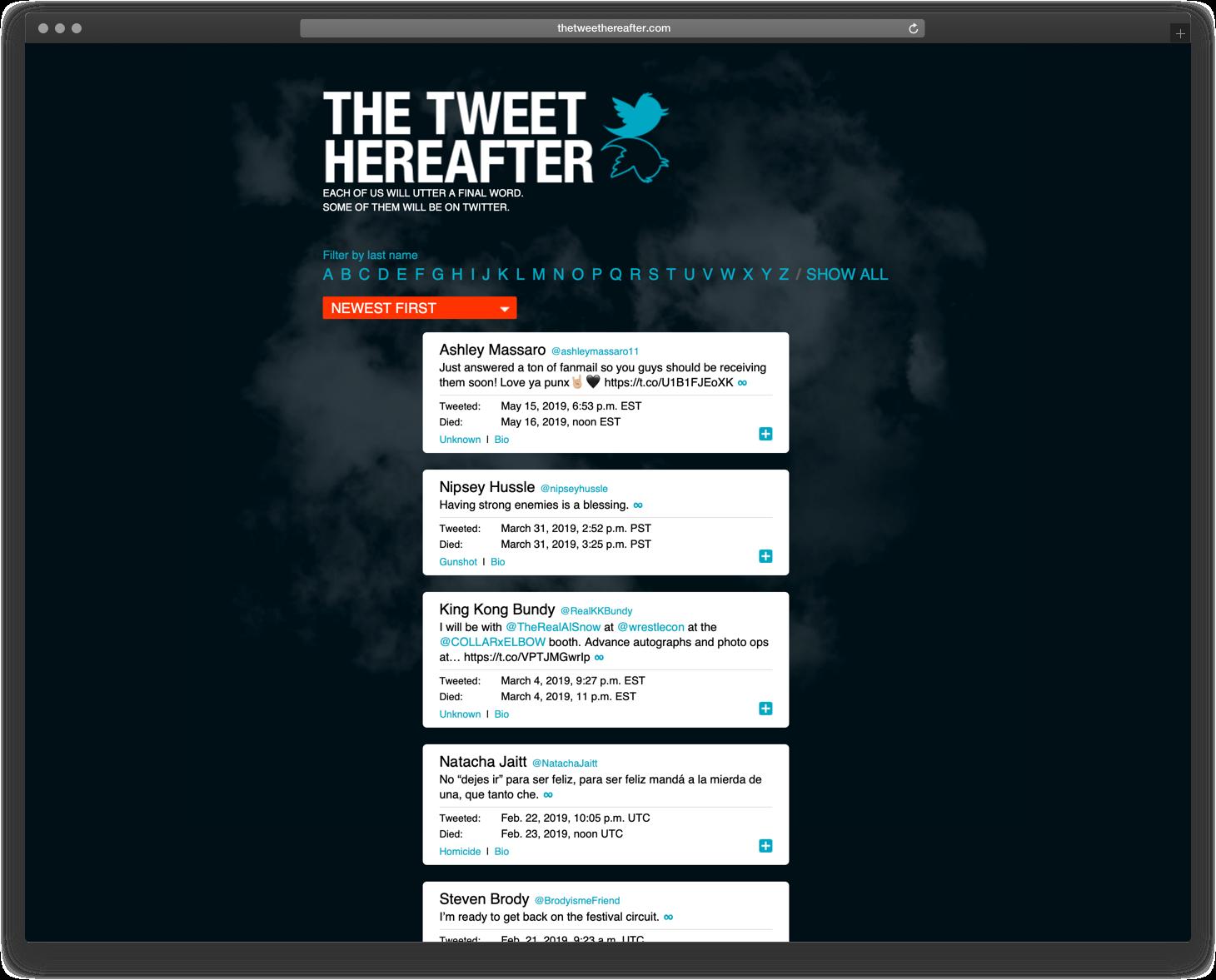 The Tweet Hereafter