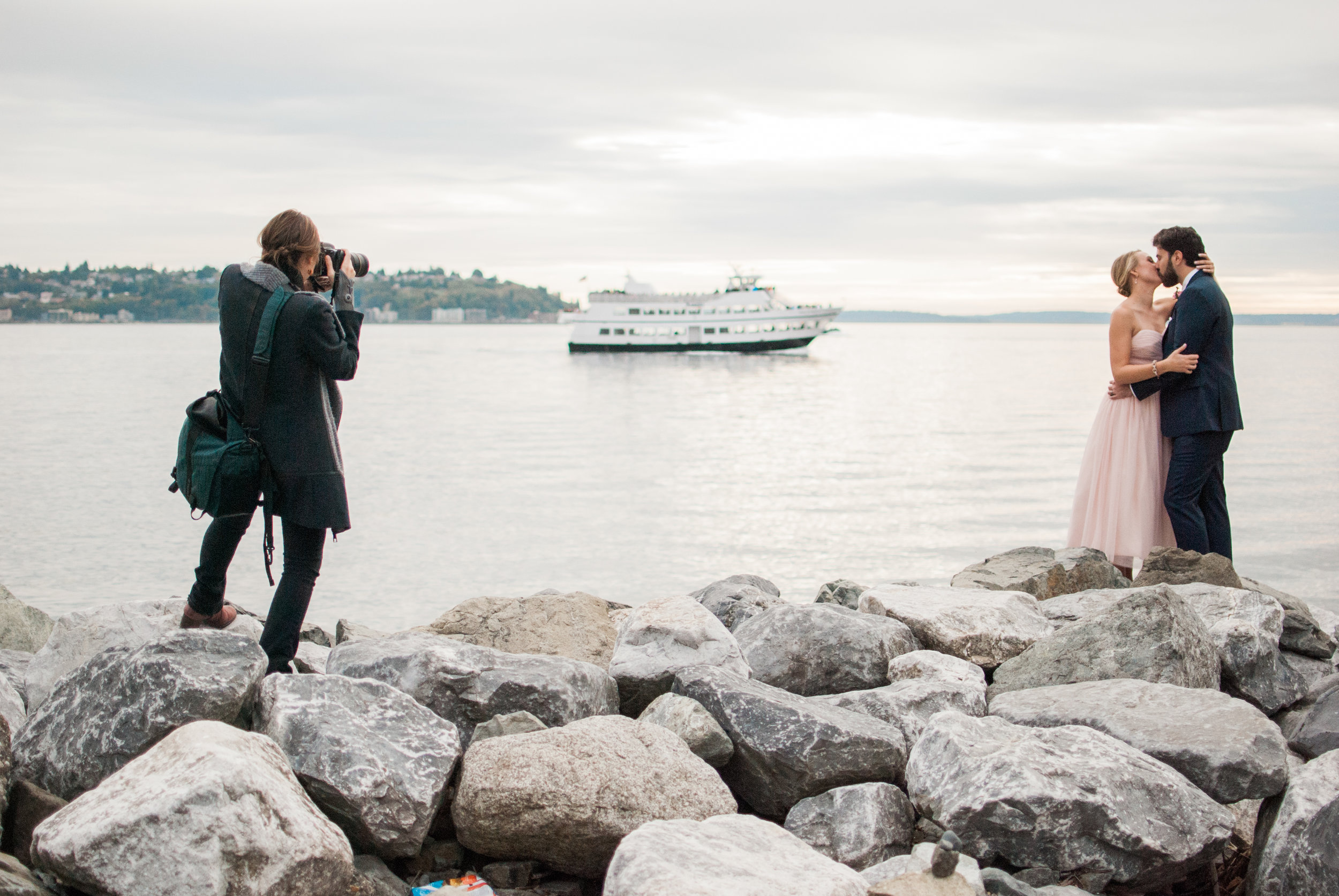 Here I am back in 2015 photographing the most Seattle-y wedding ever (I mean, come on now, there's even a ferry)!