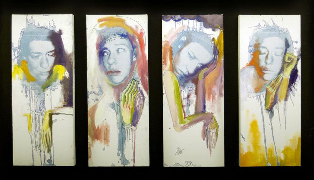 ERIN HANSCOME, SAN DIEGO STATE UNIVERSITY, CYANOTYPE + OIL PAINT, 2009
