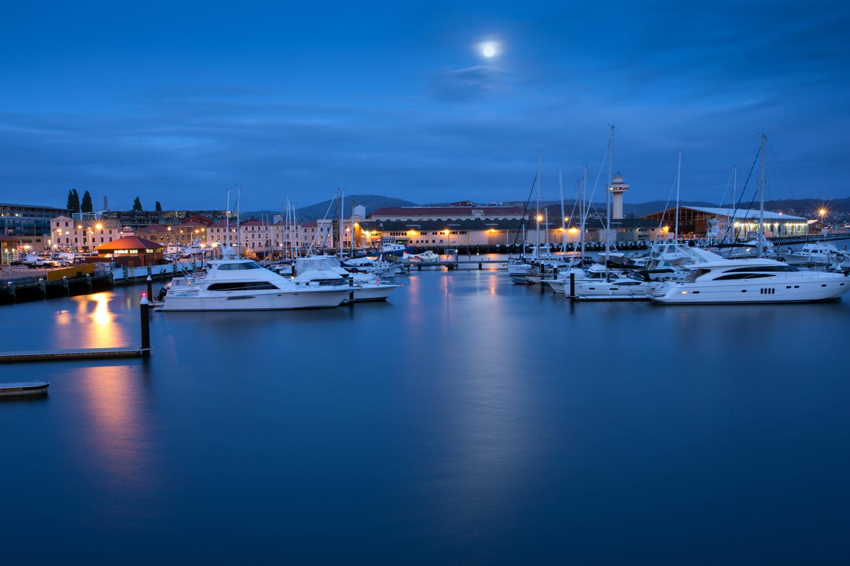 Marina in Hobart, Tasmania