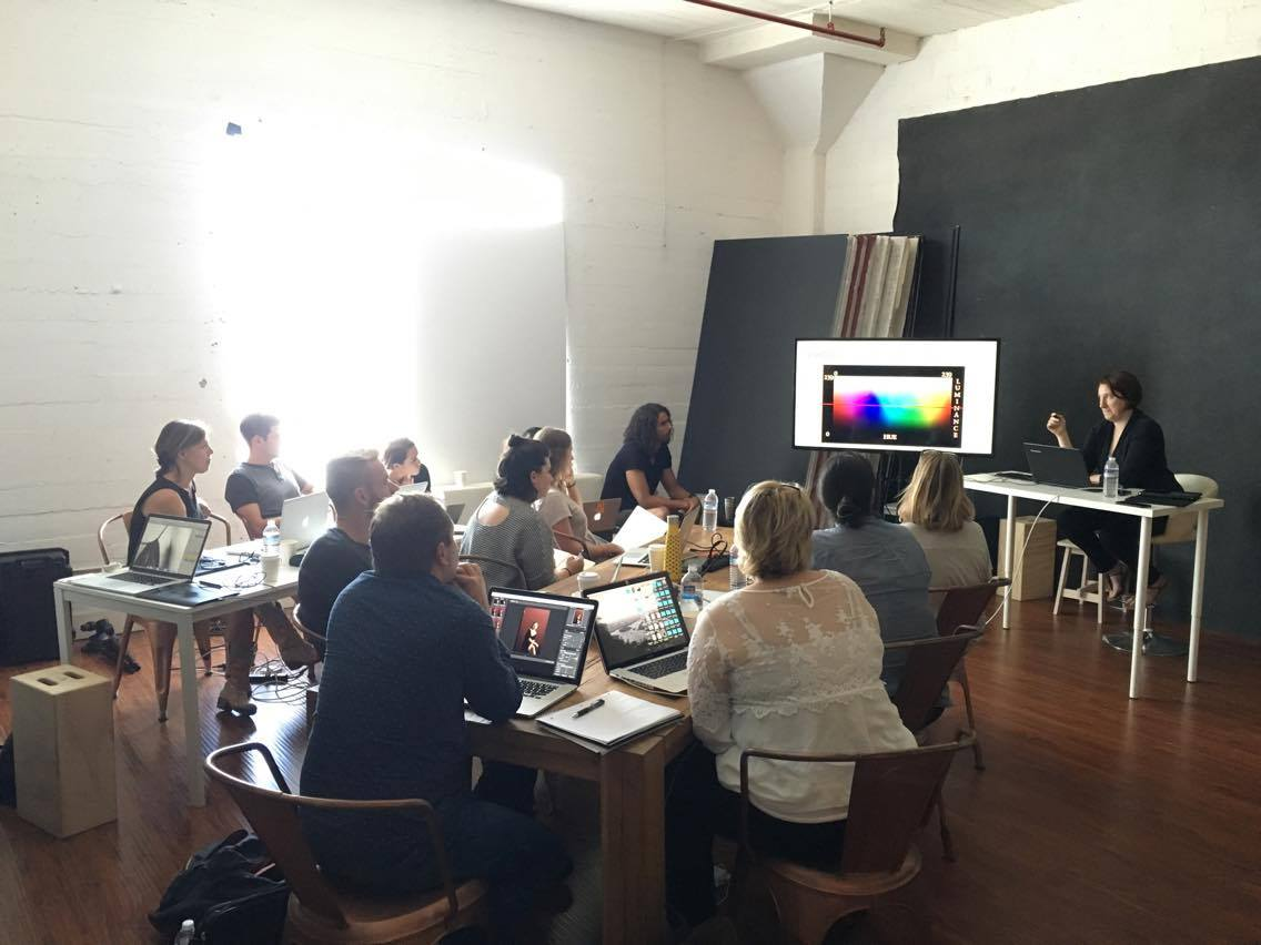 My turn to teach, here at Sue Bryce's studio in LA
