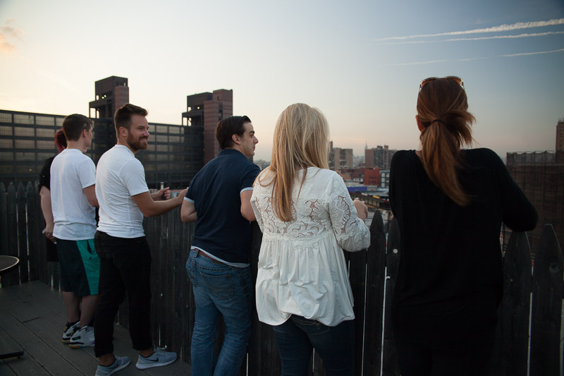 All done! Not a bad roof top view to wrap up a successful workshop!