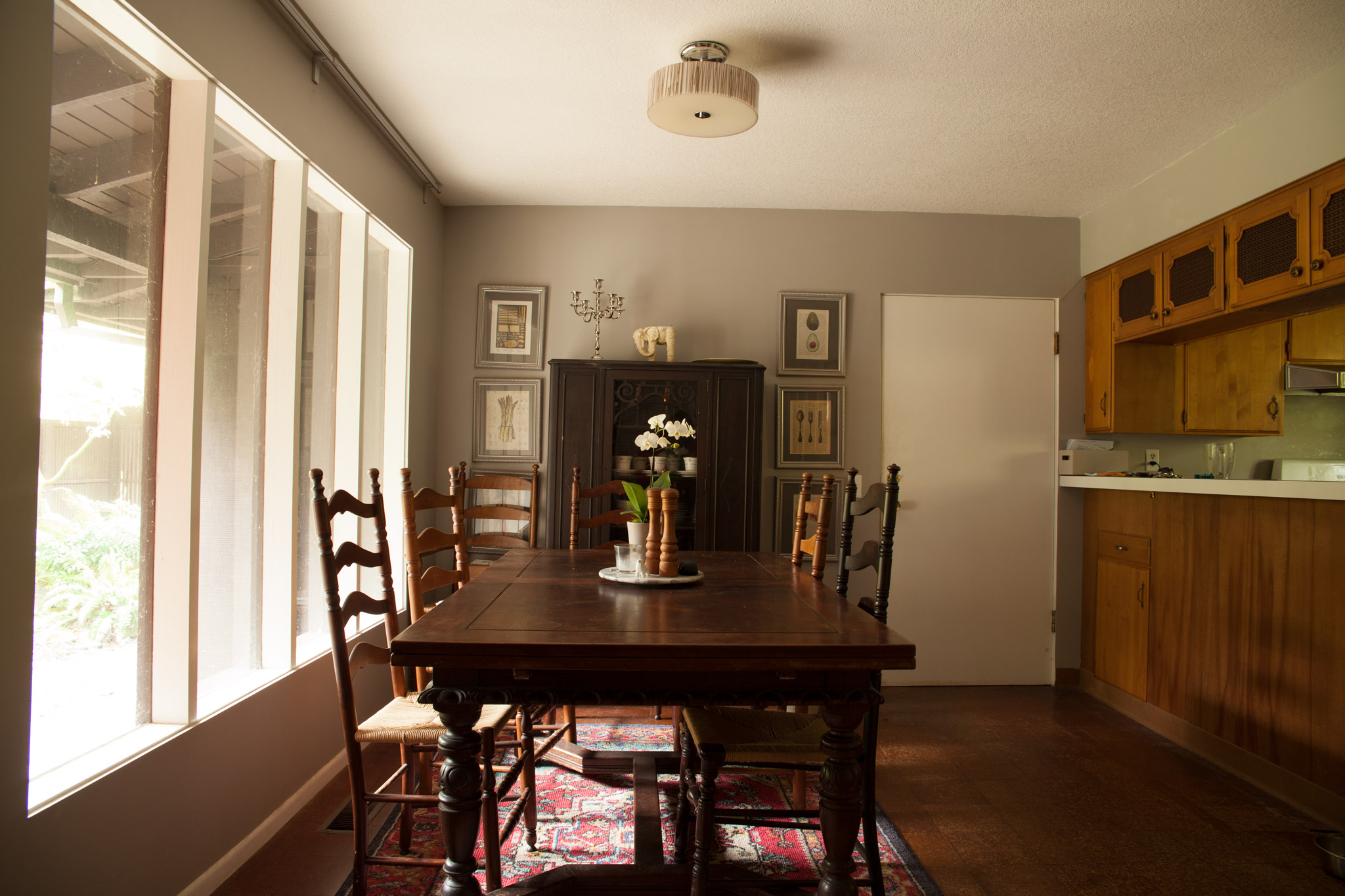 Exhibit B: Dining room before...