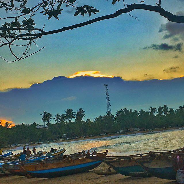 #sunset #arugambay @elephantroad_surfcamp