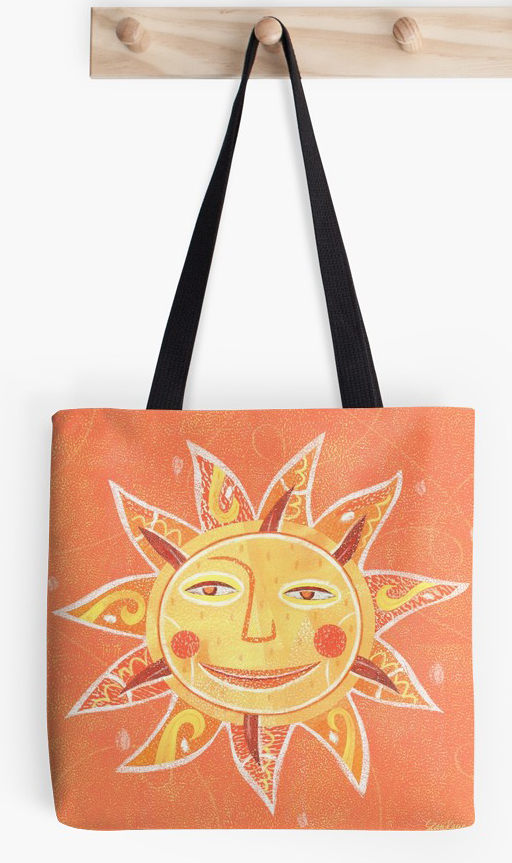 Sunday Morning Sun Art tote bag >