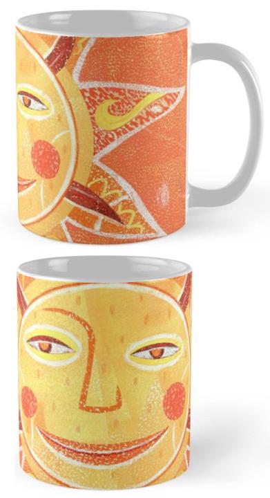 Mug featuring Sunday Morning art by Sean Kane >