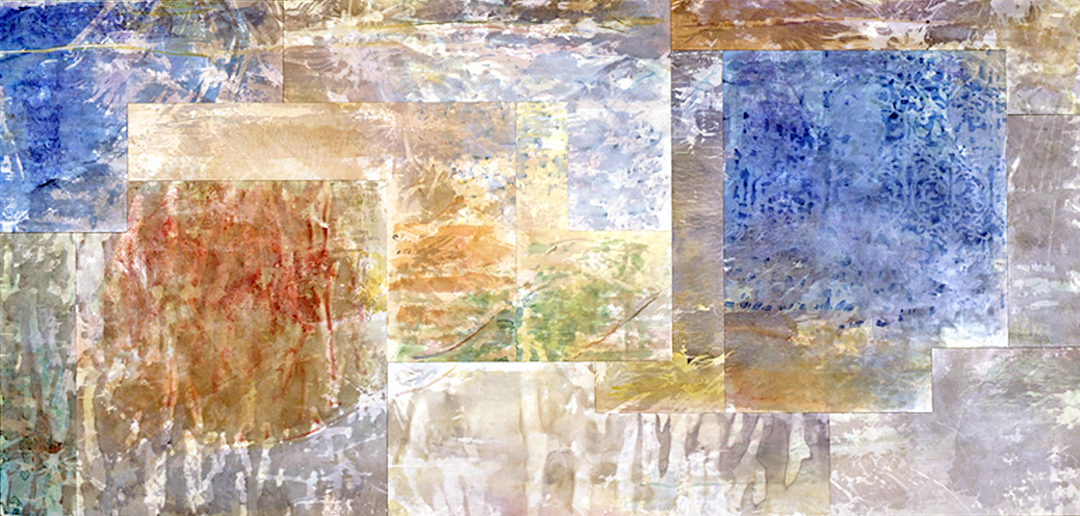 """Borrowed View: """"Scrims"""" / Sinking Creek Polyptych, 12 Panel, December, 2001"""