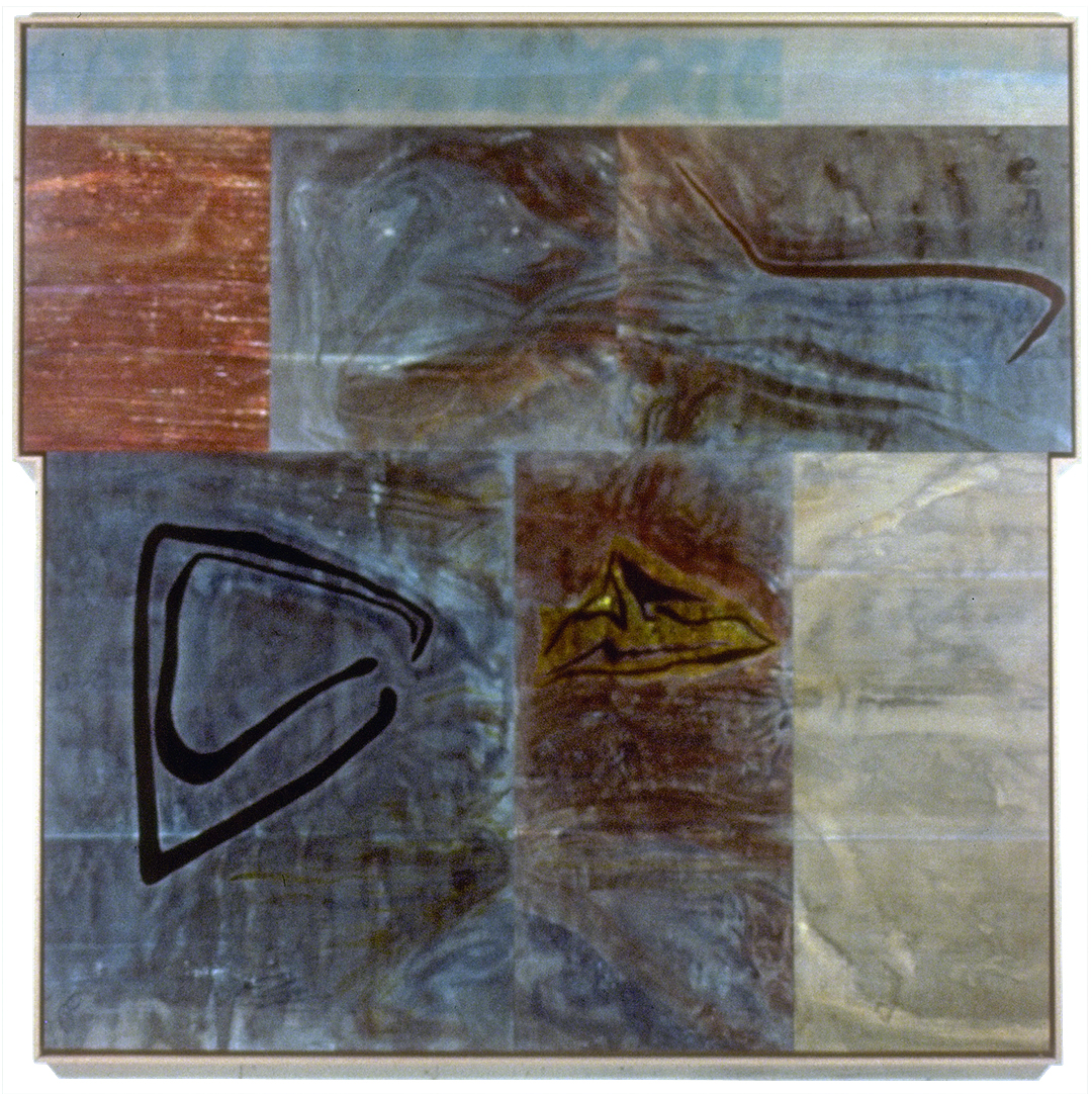 """Yellow Sulphur Springs VII, """"Vorticella Polyptych"""" #1, 7 Panel, 1991"""