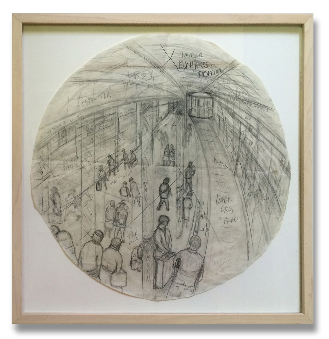 Subway (Drawing), 1988
