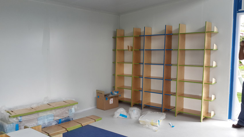TALL shelves in final position