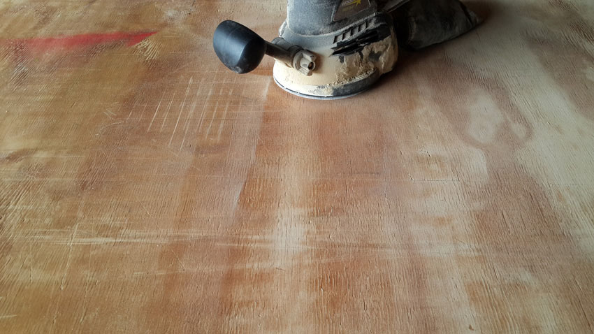 CLEANING the work surface