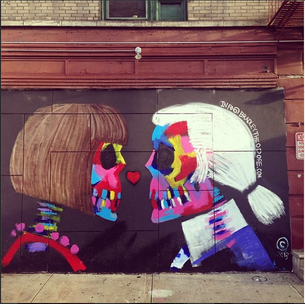LAST day of the week, last day of the month... here's some inspiration. Street art painted during fashion week.