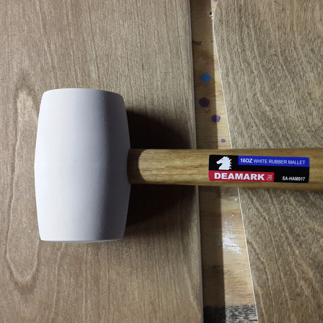 Olivia's new mallet from Denmark