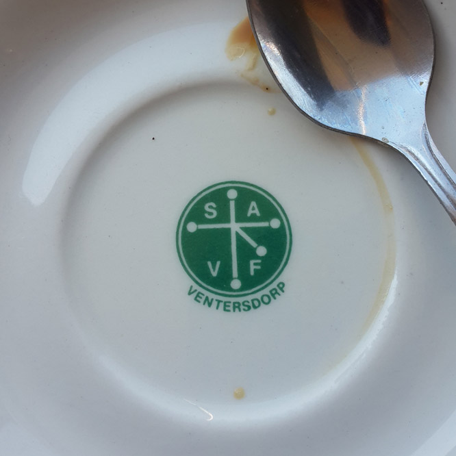LOVE the plates ceramic mark at Bean Republic
