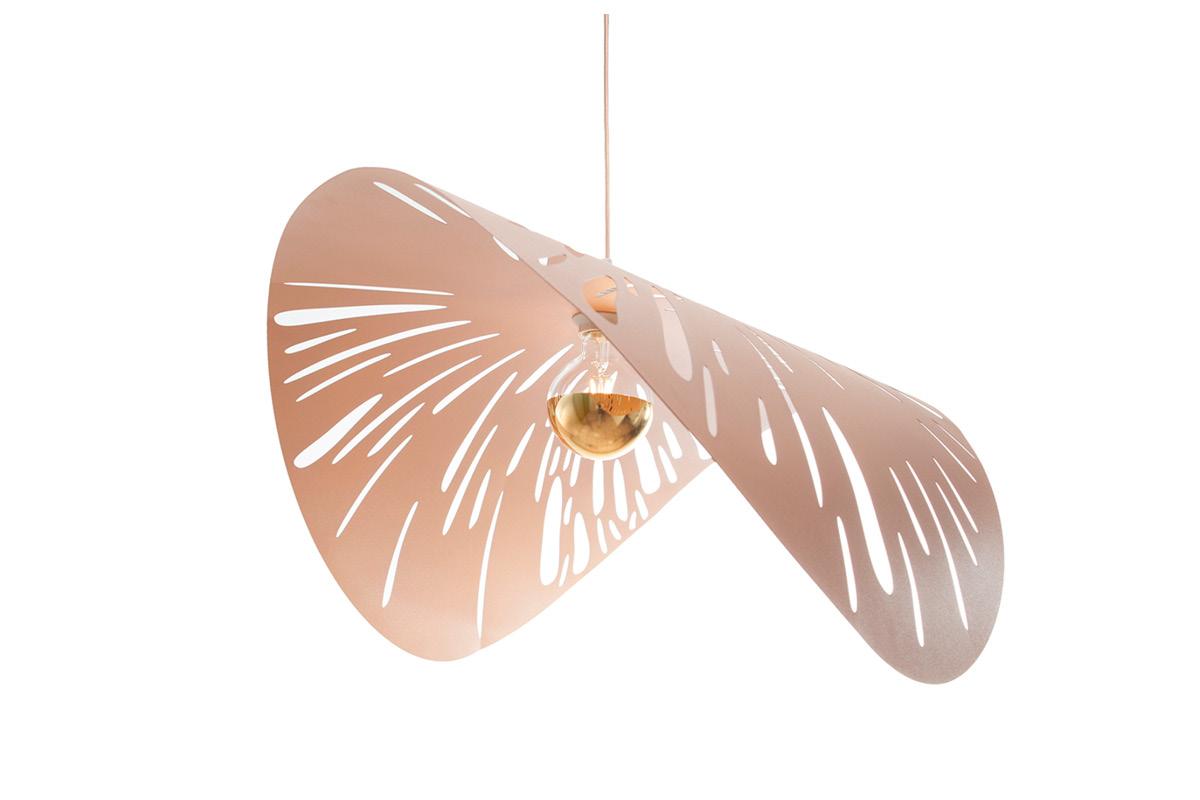 Rain Forest Lamp large in copper matt