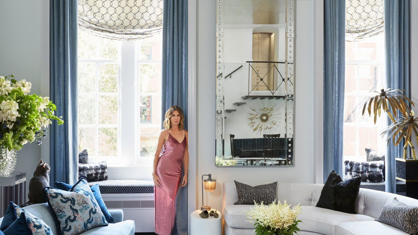 Carole Radziwill Living Room via Architectural Digest